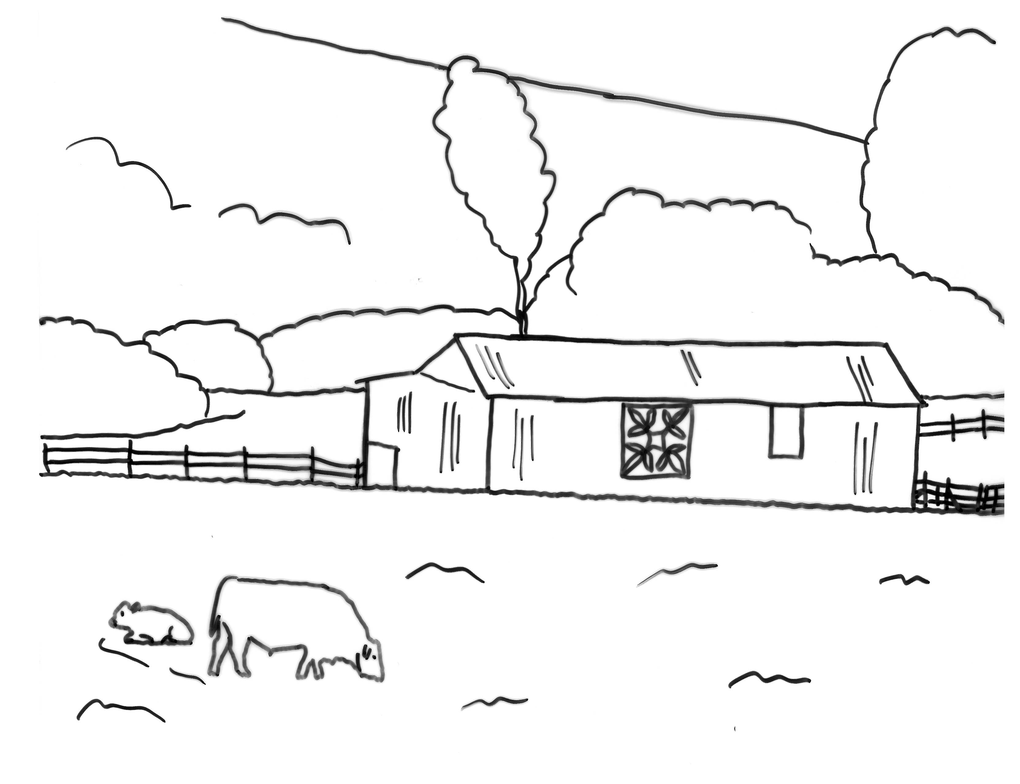 logan - Amish Children Coloring Book Pages
