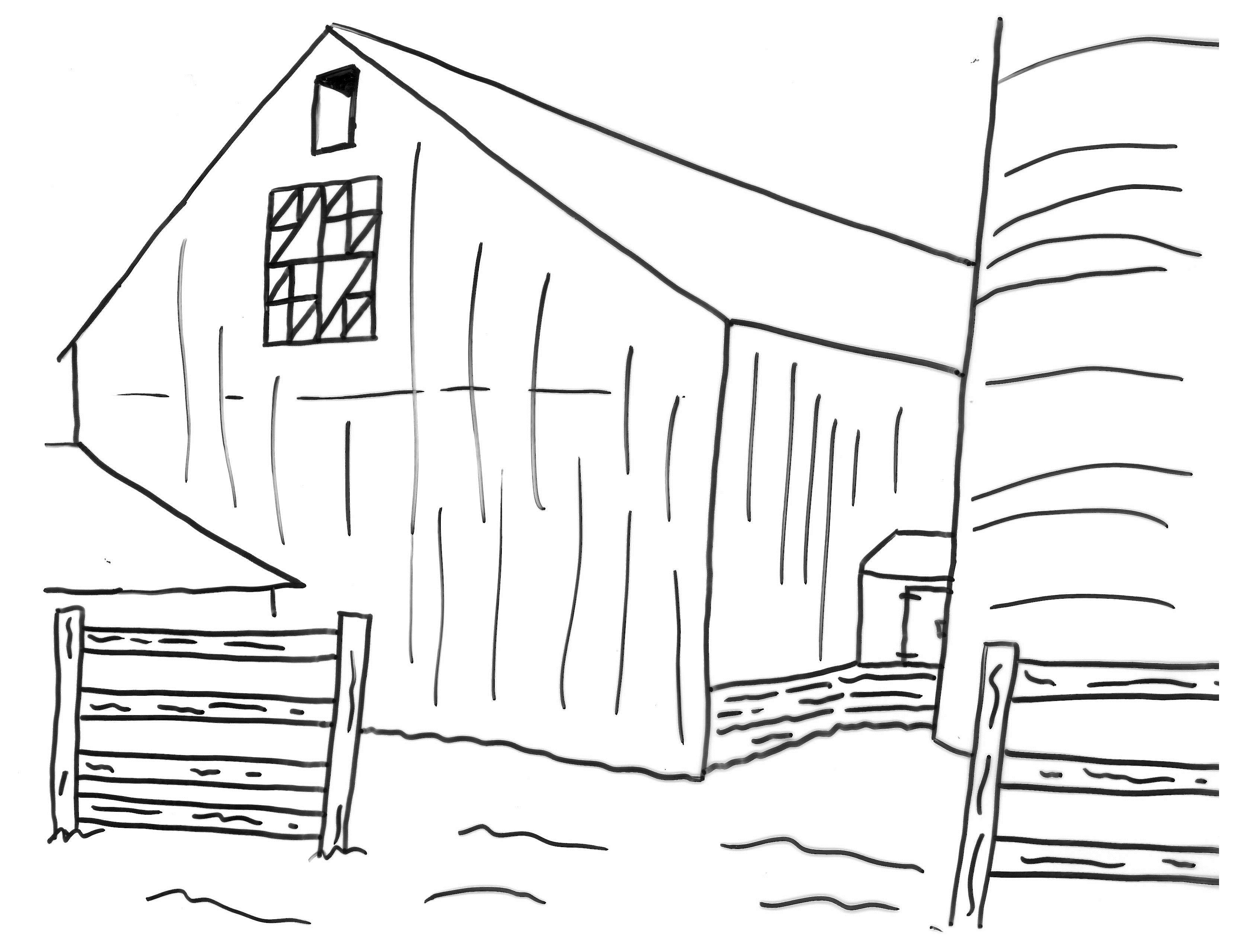 It's just a photo of Zany Barn Coloring Sheet