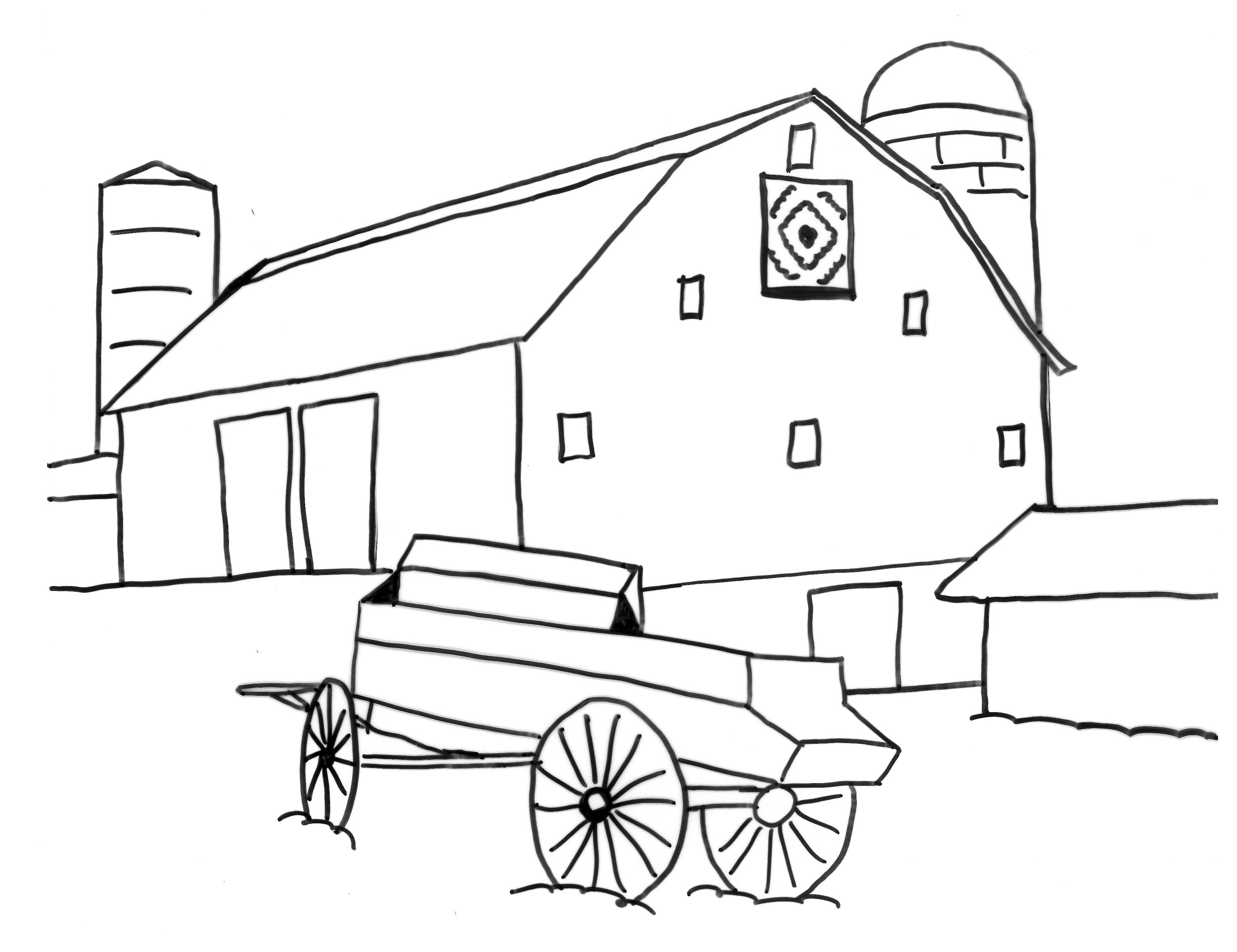 Coloring Pages | Barn Quilts in Garrett County, Maryland